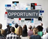 Concepto de las finanzas corporativas de la carrera del negocio de la oportunidad Imagen de archivo