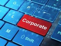 Concepto de las finanzas: Corporativo en el teclado de ordenador Foto de archivo libre de regalías