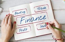Concepto de las finanzas de la acción del márketing de negocio de la contabilidad Foto de archivo