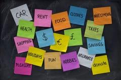 Concepto de las finanzas del hogar Fotografía de archivo