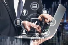 Concepto de las finanzas, del trabajo en equipo y de la comunicación imagen de archivo