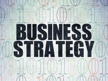 Concepto de las finanzas: Estrategia empresarial en Digitaces Fotos de archivo