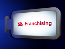 Concepto de las finanzas: Franquicia y hombres de negocios Foto de archivo libre de regalías