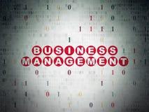 Concepto de las finanzas: Gestión de negocio en Digitaces Fotografía de archivo libre de regalías