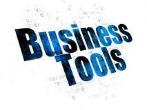 Concepto de las finanzas: Herramientas del negocio en el fondo de Digitaces foto de archivo