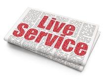 Concepto de las finanzas: Live Service en fondo del periódico Fotos de archivo