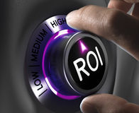 Concepto de las finanzas - ROI Imagenes de archivo
