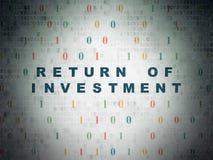 Concepto de las finanzas: Vuelta de la inversión en Digitaces imágenes de archivo libres de regalías