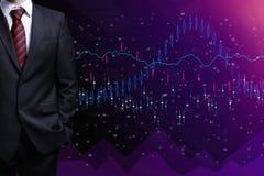 Concepto de las finanzas y del comercio stock de ilustración
