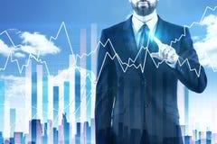 Concepto de las finanzas y del crecimiento foto de archivo