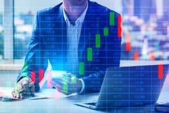 Concepto de las finanzas y de estadísticas imagen de archivo libre de regalías
