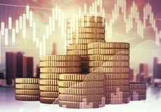 Concepto de las finanzas y de la economía imagen de archivo libre de regalías