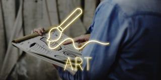 Concepto de las habilidades de Art Brush Painting Creativity Imagination Fotografía de archivo libre de regalías