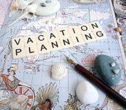 Concepto de las hojas de operación (planning) de las vacaciones foto de archivo libre de regalías