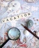 Concepto de las hojas de operación (planning) de las vacaciones Imagenes de archivo