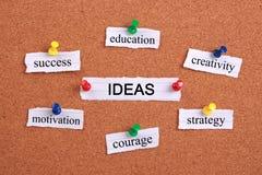 Concepto de las ideas Imagen de archivo