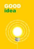 Concepto de las ideas de la bombilla Ilustración del vector Imágenes de archivo libres de regalías