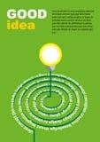 Concepto de las ideas de la bombilla Ilustración del vector Foto de archivo libre de regalías