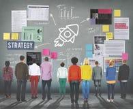 Concepto de las ideas del negocio de la estrategia del planeamiento del plan Imagen de archivo libre de regalías