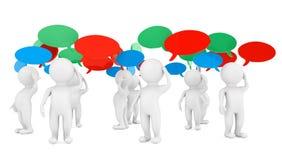 Concepto de las ideas. personas 3d con las burbujas del pensamiento Imagen de archivo