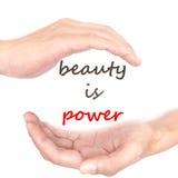 Concepto de las manos - la belleza es poder Fotos de archivo