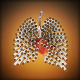 Concepto de las matanzas que fuma Foto de archivo libre de regalías