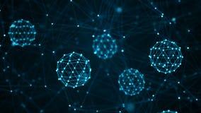 Concepto de las mol?culas Neuronas abstractas y sistema nervioso Fondo m?dico representaci?n 3d libre illustration