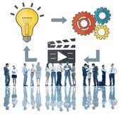 Concepto de las multimedias de la inspiración de la creatividad de las ideas del planeamiento Foto de archivo
