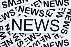 Concepto de las noticias Fotos de archivo