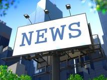 Concepto de las noticias de mundo en la cartelera. Imágenes de archivo libres de regalías