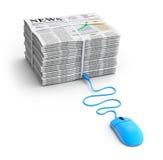 Concepto de las noticias del Web Foto de archivo libre de regalías
