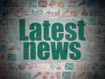 Concepto de las noticias: Las últimas noticias en el papel de Digitaces Imagen de archivo libre de regalías