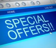 Concepto de las ofertas especiales Imagen de archivo