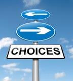 Concepto de las opciones. Imagen de archivo libre de regalías