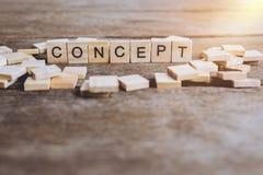 CONCEPTO de las palabras hecho con las letras de madera del bloque ABC de madera Fotografía de archivo