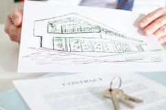 Concepto 6 de las propiedades inmobiliarias Imagen de archivo