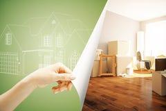 Concepto 6 de las propiedades inmobiliarias ilustración del vector