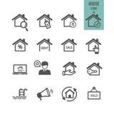 Concepto 6 de las propiedades inmobiliarias Contenga el icono libre illustration
