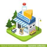 Concepto de las propiedades inmobiliarias de los bienes raices del edificio comercial de la lechería La Florida libre illustration