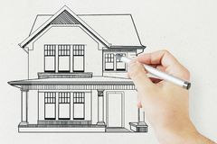 Concepto de las propiedades inmobiliarias y del alquiler Fotografía de archivo libre de regalías