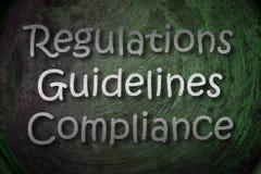 Concepto de las regulaciones Fotografía de archivo