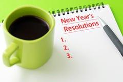 Concepto de las resoluciones del ` s del Año Nuevo Foto de archivo