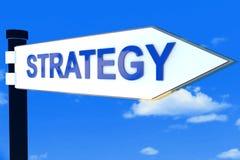 Concepto de las señales de dirección del camino de la estrategia Imagenes de archivo