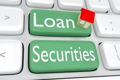 Concepto de las seguridades del préstamo ilustración del vector
