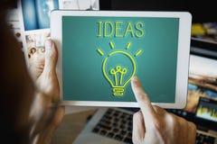 Concepto de las táctica de la estrategia del plan del objetivo de diseño de las ideas Fotos de archivo libres de regalías