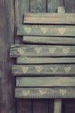Concepto de las tarjetas del día de San Valentín Fotos de archivo