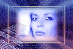 Concepto de las tecnologías de Digitaces Foto de archivo