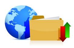 Concepto de las tecnologías de Internet y de los medios Foto de archivo libre de regalías
