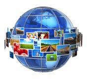 Concepto de las tecnologías de la telecomunicación y de los media Imagenes de archivo