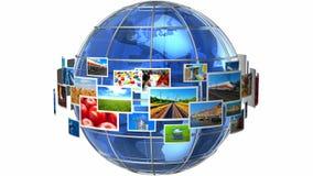 Concepto de las tecnologías de la telecomunicación y de los medios ilustración del vector